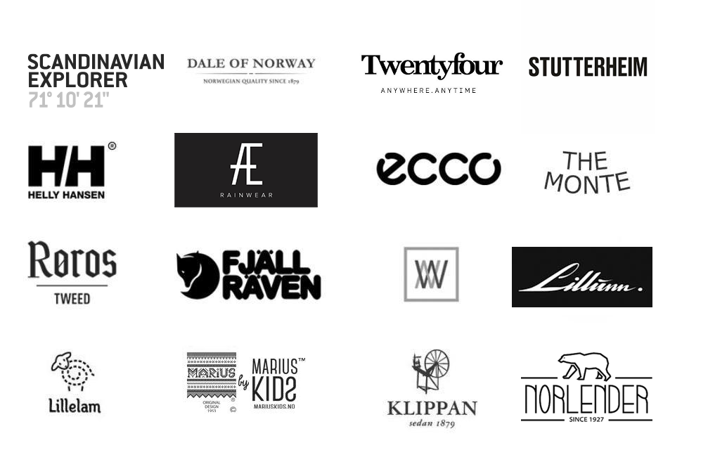 Clothings brands at Mall of Norway