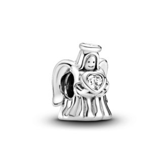 Angel silver charm with clear cubic zirconia - Tilbehør / Smykker
