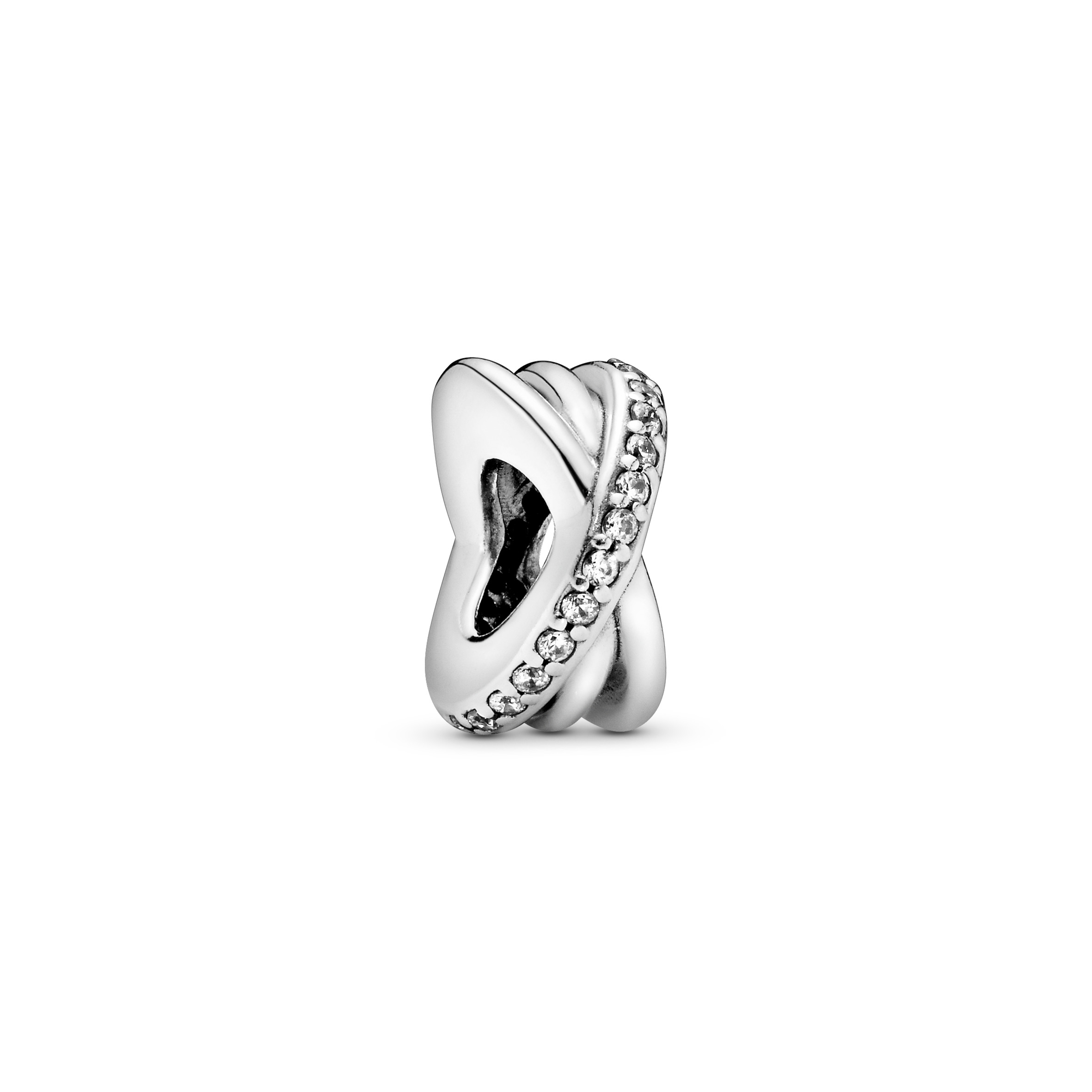 Silver spacer with clear cubic zirconia - Tilbehør / Smykker