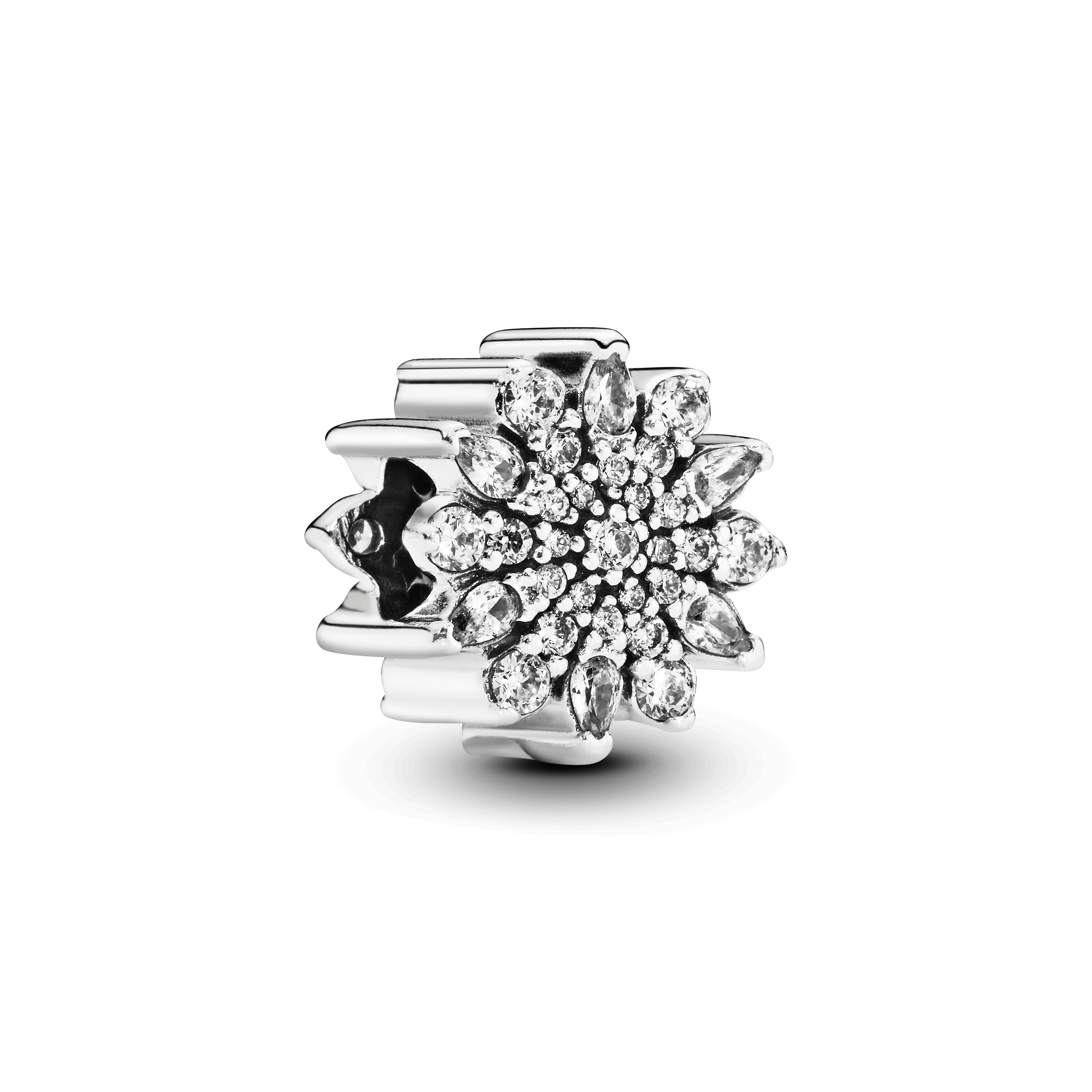 Ice crystal silver charm with clear cubic zirconia - Tilbehør / Smykker