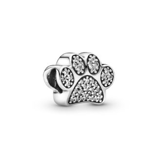 Paw silver charm with cubic zirconia - Tilbehør / Smykker