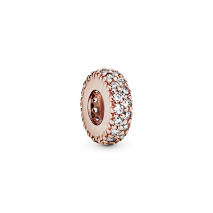 Abstract PANDORA Rose spacer w clear cubiczircon - Tilbehør / Smykker