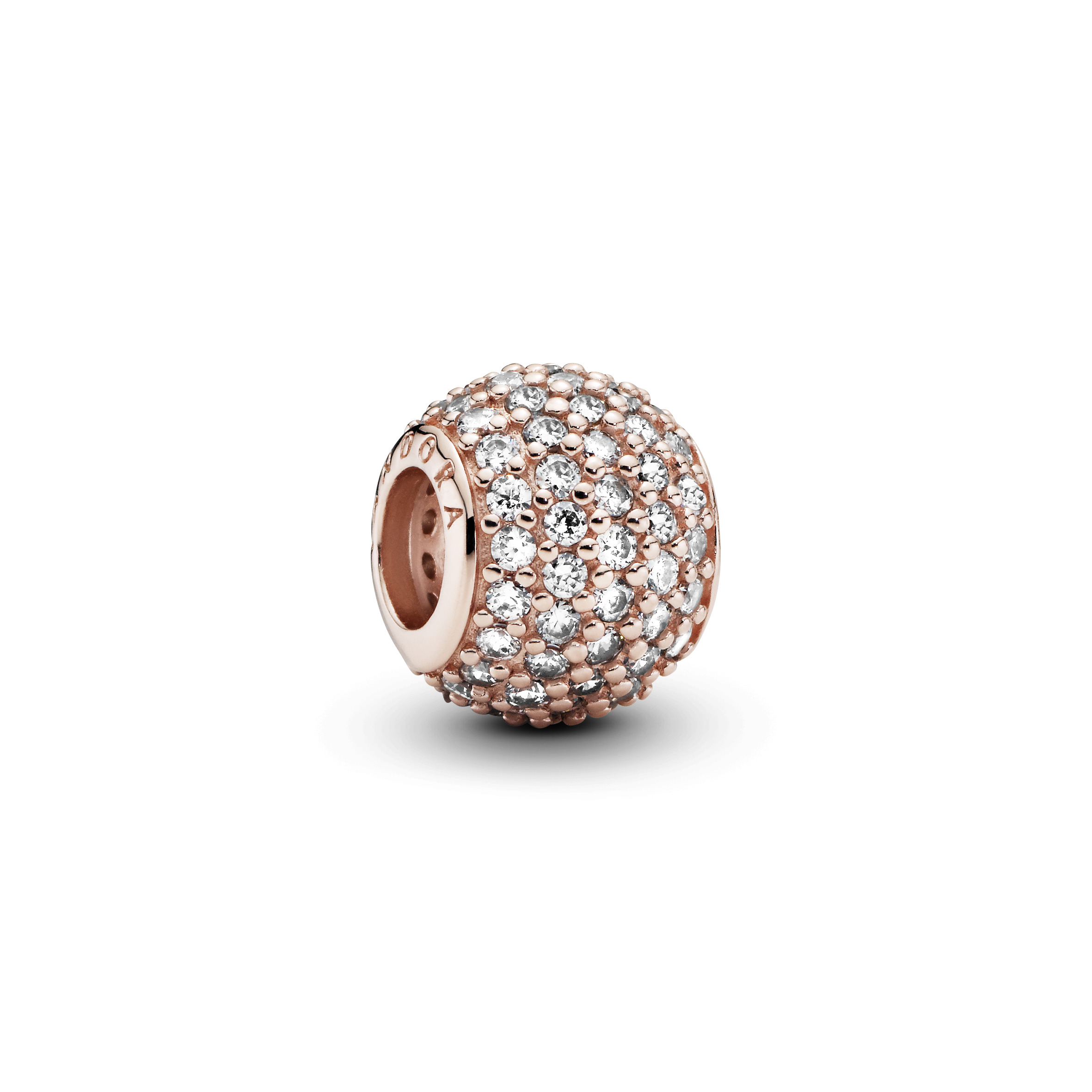 Abstract pave PANDORA Rose charm with cubiczircon - Tilbehør / Smykker