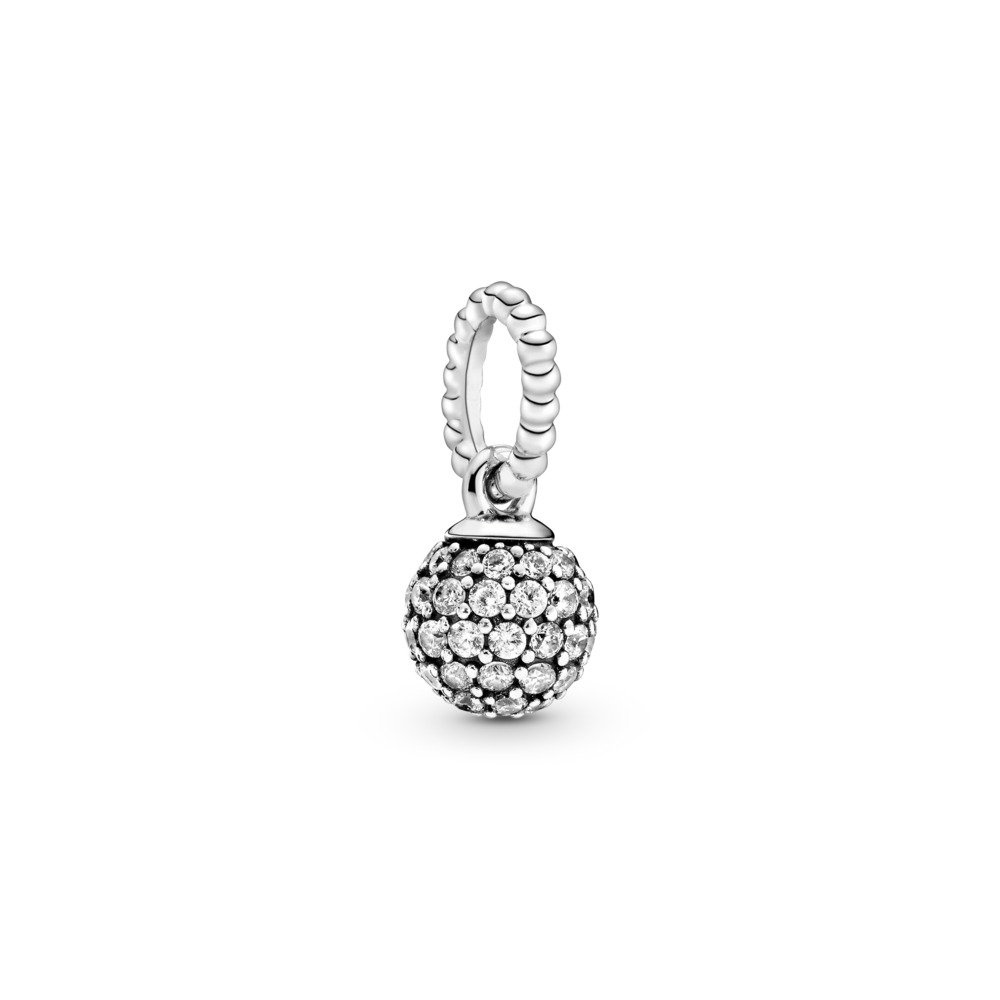 Sterling silver pendant with clear cubic zirconia - Tilbehør / Smykker