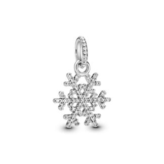 Snowflake silver pendant with cubic zirconia - Tilbehør / Smykker