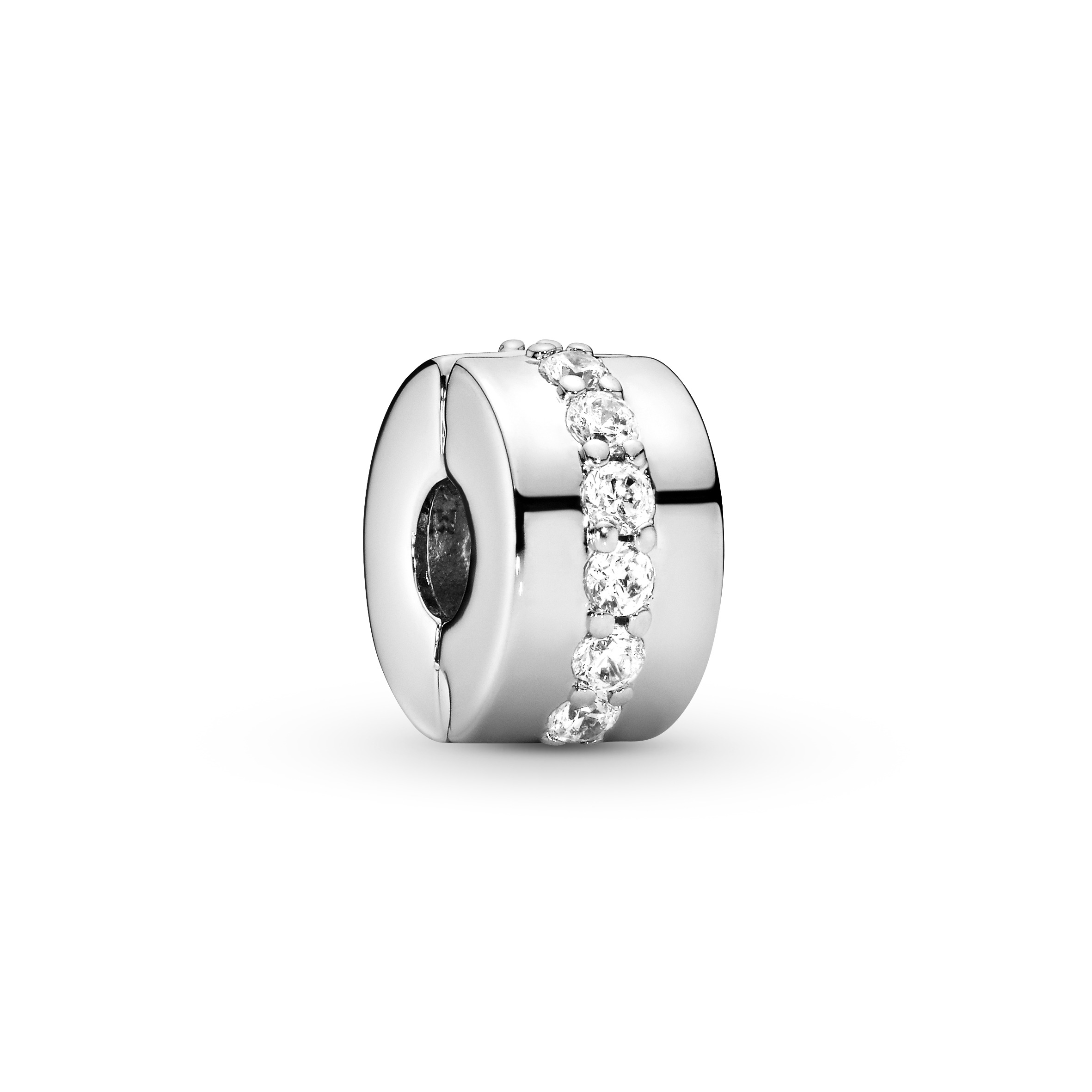 Silver clip with clear cubic zirconia - Tilbehør / Smykker