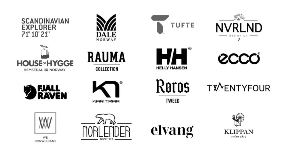 Mall of Norway brands logos